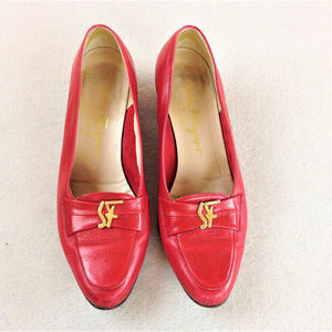 SALVATORE FERRAGAMO Loafer Pumps Low Heels 7.5M
